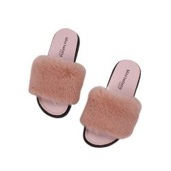 Women Casual Non-slip Wear-resistant Flat Sandals Indoor Outdoor Pink,38