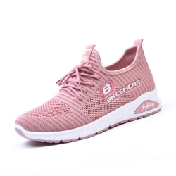 Women Comfortable Soft Sole Breathable Mesh Casual Shoes Sneaker Pink,39