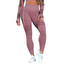Women Compression High Waist Yoga Leggings Sports Pants Training red,M
