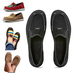 Women Fashion Canvas Loafers Color Matching Flats Casual Shoes Colour,36
