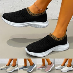 Women Flying Weaving Shoes Trainers Sports Flats Runing Sneakers White,37