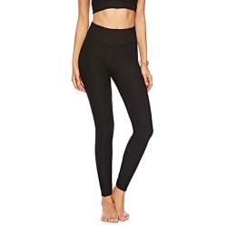 Women High Waist Mesh Yoga Pants Fitness Leggings Sport Trousers Black,L