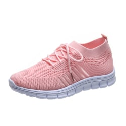 Women Mesh Sneakers Athletic Lightweight Breathable Casual Shoes Pink,38