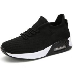 Women's Air Cushion Sneakers Athletic Running Elastic Sock Shoes Black,41