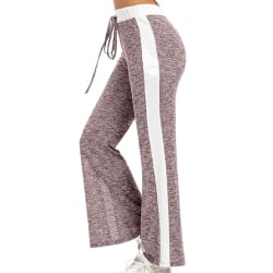 Women's Casual Elastic Wide Leg Pants Yoga Sports Jogging Pants Pink,XXL