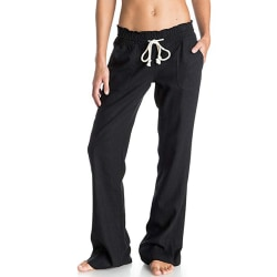 Women's casual high waist wide leg pants sports yoga pants Black,M