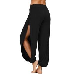 Women's Casual Loose Yoga Harem Pants Sports Gym Pants black,M