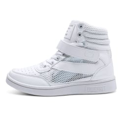 Women's Casual Shoes Athletic Sports Hollow Out Sneakers Lace Up White,35