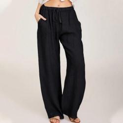 Women's Casual Sweatpants Yoga Dance Pants Harem Pants Pockets black,XXL