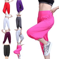 Women'S High Waist Solid Color Yoga Pants Wide Leg Pants Dark Grey,S