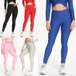 Women's High Waist Yoga Shorts Pocket Sports Fitness Pants Black,S