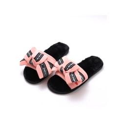 Women's Home Indoor Slippers Floor Shoes Open Toe Sandals pink,36-37