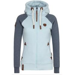 Women's Hooded Sweatshirt Zip Jacket Hooded Pullover Top grey blue,5XL