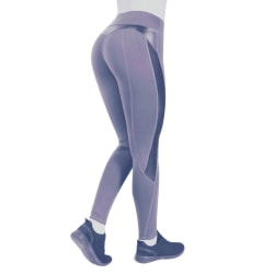 Women's Leggings Mesh Breathable Fitness Running Pants gray,XL