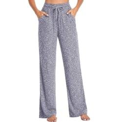 Women's Pants Wide Leg Pants High Waist Loose Casual Yoga Pants light grey,XXL