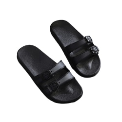 Women's personalized platform slippers casual beach shoes black,38-39
