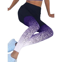 Women's push-up yoga pants high waist exercise exercise fitness purple,S