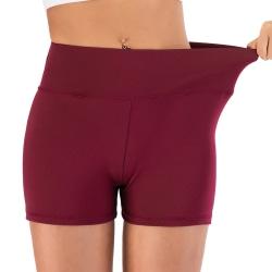 Women's Sexy Yoga Running Shorts Casual Gym Hot Pants Quick Dry Claret,S