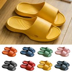 Women's slippers flat-soled beach shoes sandals bath shoes black,42/43