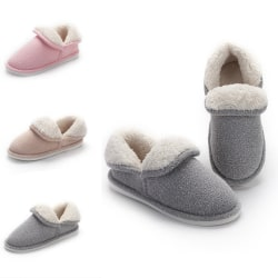 Women's Solid Color Slipper Anti-Slip Warm Floor Indoor Shoes Pink,40/41