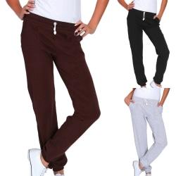 Women's sports pants casual elastic waist jogging pants Black,M