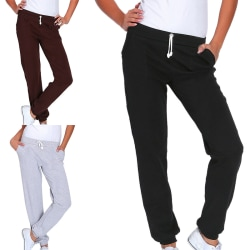 Women's sports pants casual elastic waist jogging pants Gray,M