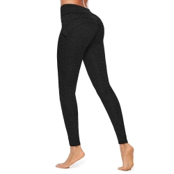 Women's Yoga Pants Breathable Sports Scrunch Stretch Trousers Black,L