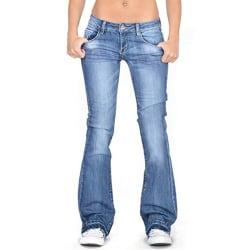 Women Skinny Denim Jeans Jeggings Fringed Stretch Trouser Pants Light Blue,L