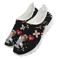Women Sneakers Trainers Loafers Outdoor Casual Shoes Slip On black,37