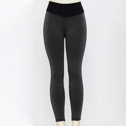 Women Yoga Pants Anti-Cellulite Leggings Sports Fitness Trousers Black,M