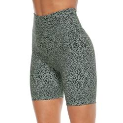 Womens High Waist Cycling Shorts Gym Leggings Sports Yoga Pants Dots,M