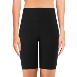 Dam Yoga Shorts Stretch Gym Running Sports Pants Leggings Black,L