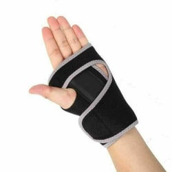 Wrist Hand Brace Support Splint Carpal Tunnel Sprain Arthritis Black+Grey,left