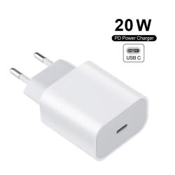 Apple iPhone 11/12 USB-C strömadapter 20W vit
