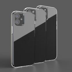 iPhone 12 Mini slimmat, genomskinligt, silikon skal  Transparent / Genomskinligt