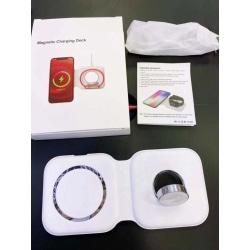 MagSafe Duo-laddare för iPhone, Apple watch och Airpods vit