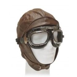 XX/L Gammaldags Retro pilotmössa i skinn och goggles på köpet. B