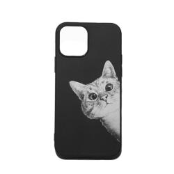 iphone 12/12 Pro Skal med kattmotiv, nyfiken katt