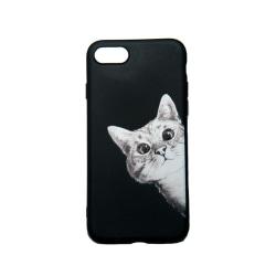 iPhone SE 2020 / 7 / 8 - Skal med nyfiken katt
