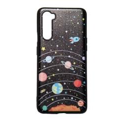 OnePlus Nord Skal med rymdmotiv, solsystemet. svart