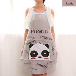 1 st vanligt förkläde Hem Pinafore fickor PANDA