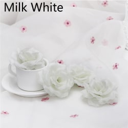 10/20PCS Artificial Rose Flower Heads Fake Bouquet MILK WHITE