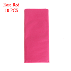 10pcs/bag Tissue Paper Origami Scrapbooking ROSE RED