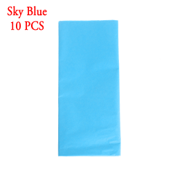 10pcs/bag Tissue Paper Origami Scrapbooking SKY BLUE