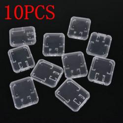 10PCS Memory Card Case Transparent Storage Box SD/TF SDHC Card