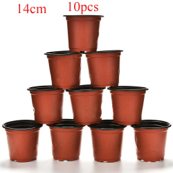 10pcs Nursery Pots Plant Trays Flower Vases 14CM