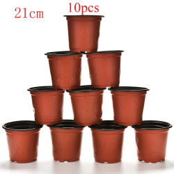 10pcs Nursery Pots Plant Trays Flower Vases 21CM