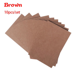 10pcs/set Blank Greeting Card Postcards BROWN