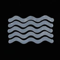 12pcs Anti-Slip Strips Shower Bath Safety Strips S Shape Non