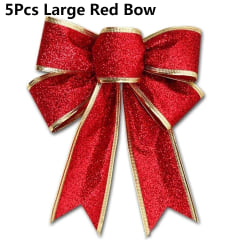 12pcs Bowknot Christmas Tree Hanging Xmas Ornament 5PCS LARGE